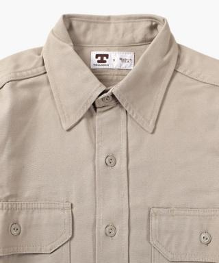 3acf6d2d1ee 텔라슨(TELLASON) Clampdown Shirt 8 oz (Khaki) - 252