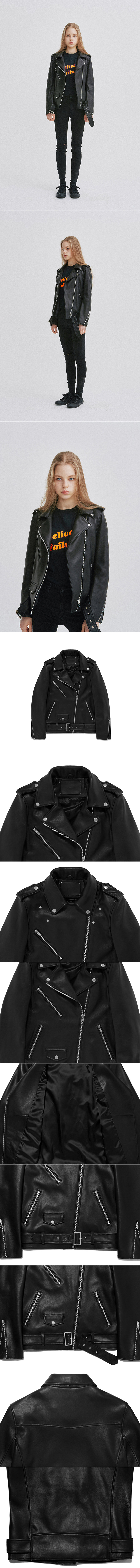 비바스튜디오(VIVASTUDIO) WOMENS LAMB SKIN RIDERS JACKET GS [BLACK]