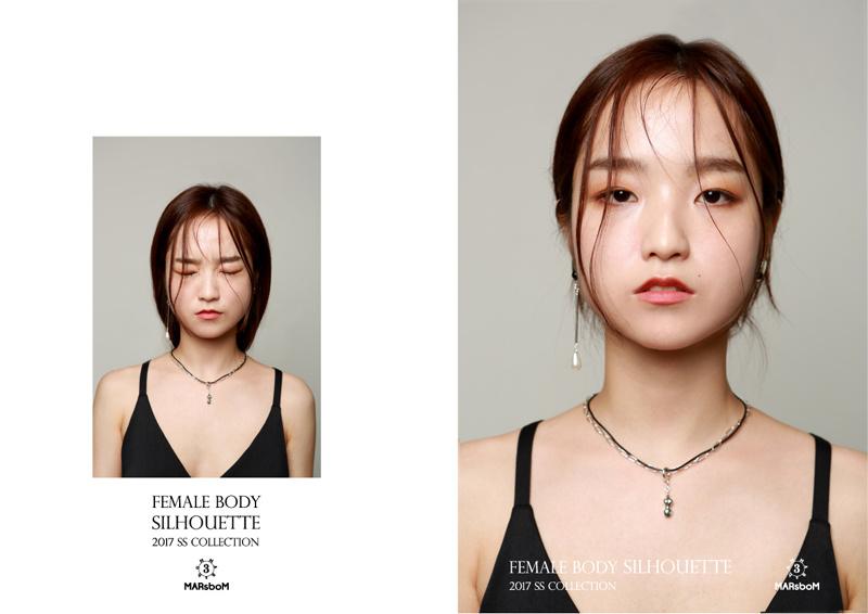 마르스봄(MARSBOM) 미니 바디 체인&레더 목걸이