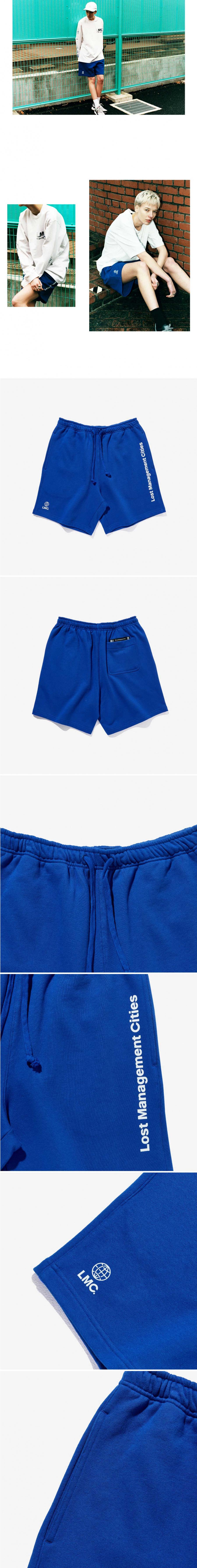 엘엠씨(LMC) LMC LOGO SWEAT SHORTS royal blue