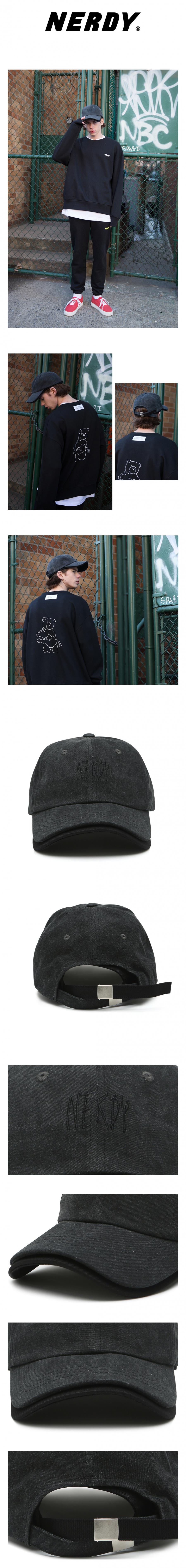 널디(NERDY) NY LAYERED CAP BLACK