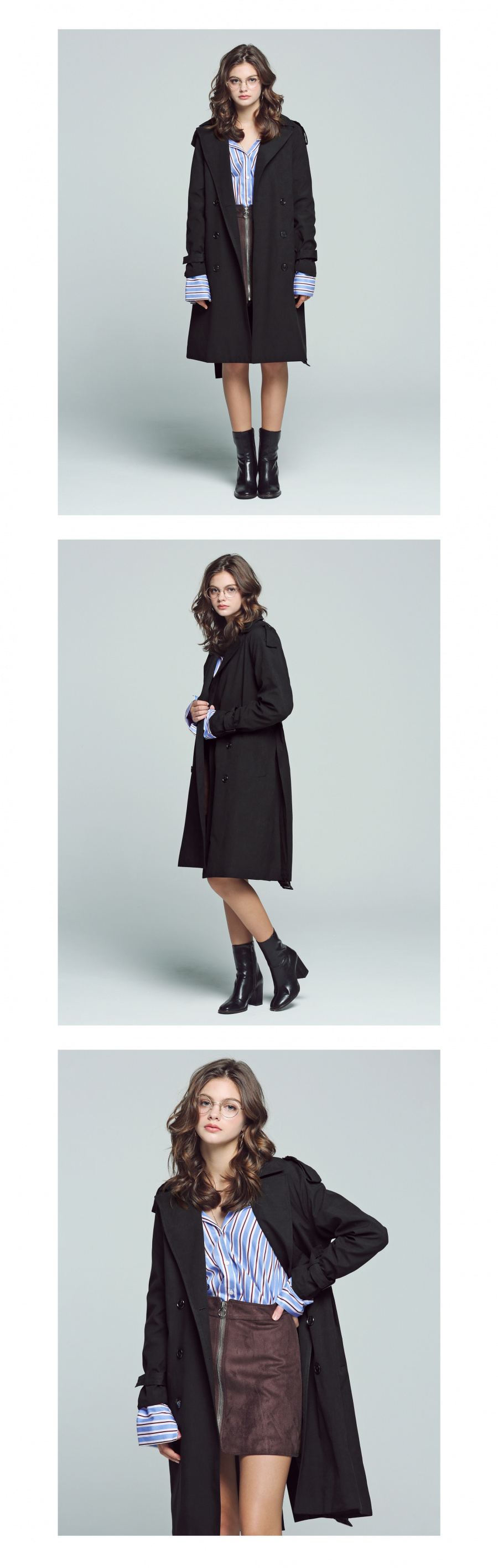 아파트먼트(APARTMENT) APT Trench Coat - Black