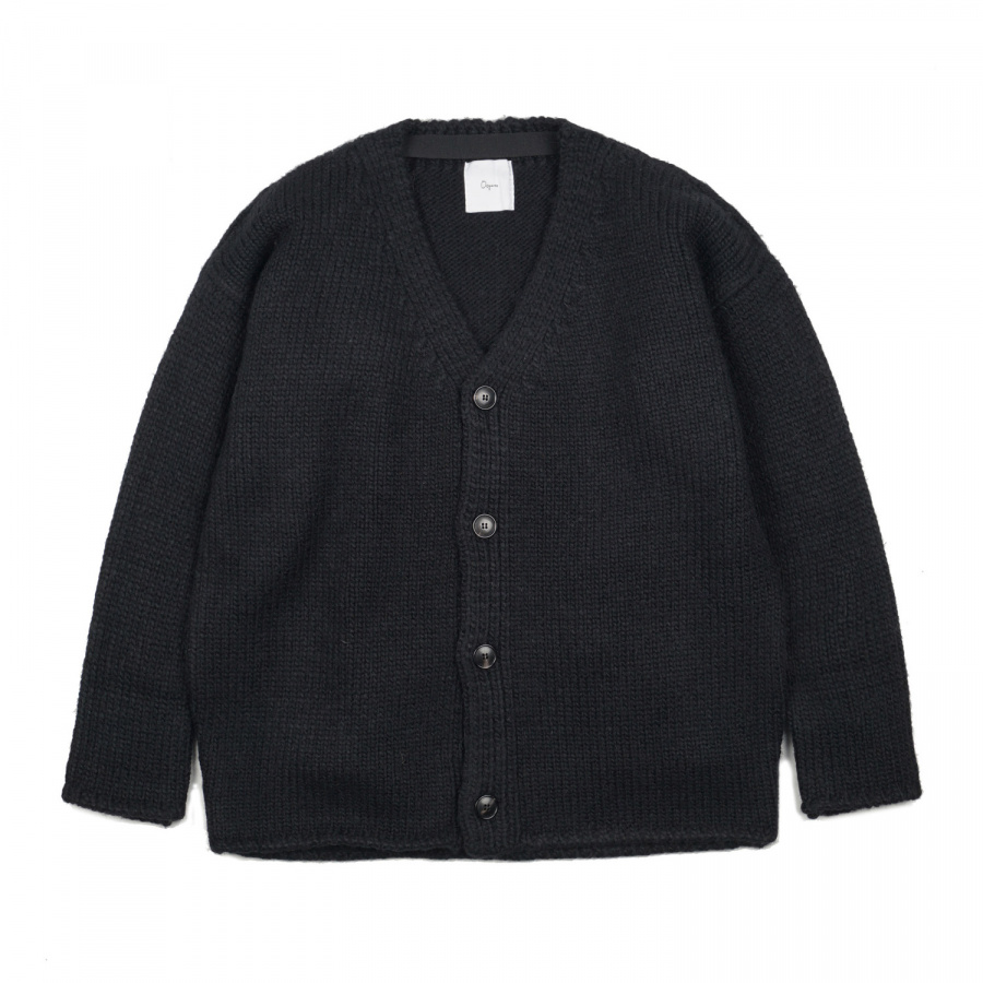 오파츠(OOPARTS) OOPARTS OPT17FWJK01BK Dropped-shoulder cardigan Black