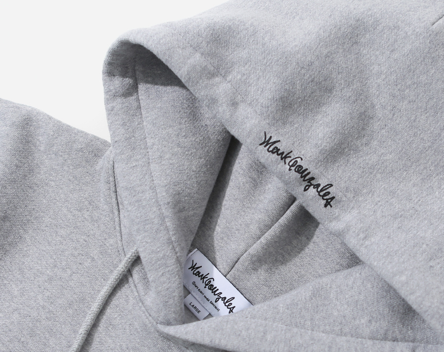 마크 곤잘레스(MARK GONZALES) MARK GONZALES SIGN LOGO HOODIE GRAY