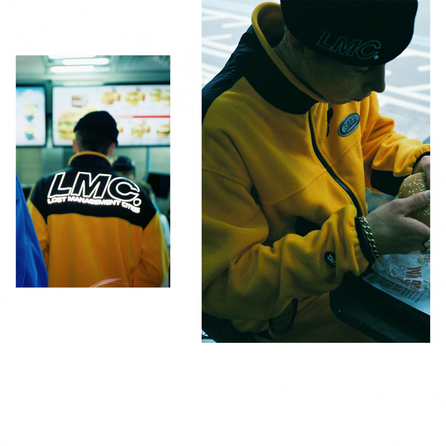 엘엠씨(LMC) LMC FLEECE TRACK SUIT JACKET yellow
