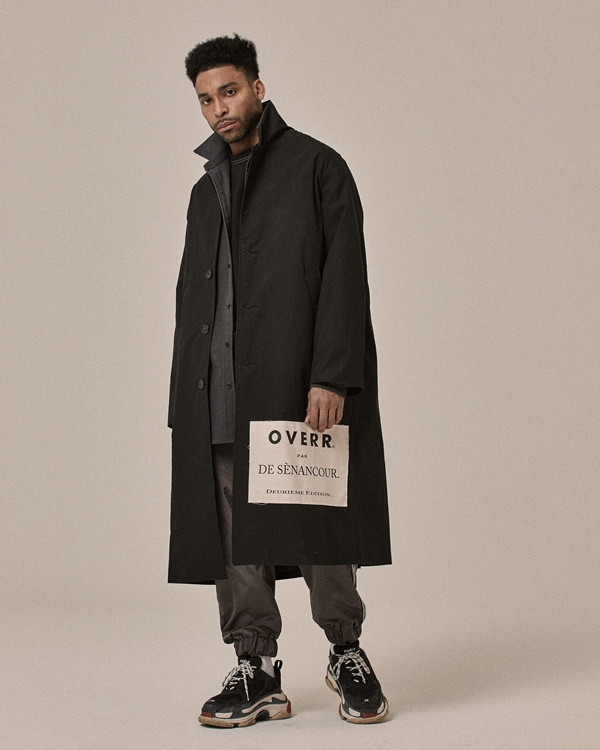 오베르(OVERR) 18SS SIDE POSTCARD BLACK COAT