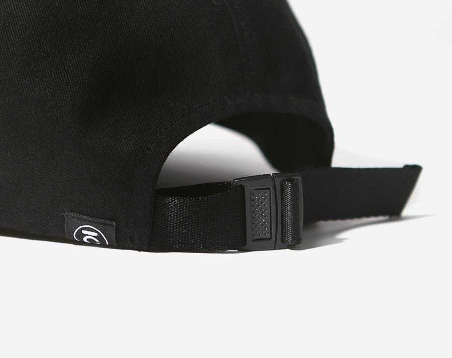 커버낫(COVERNAT) AUTHENTIC LOGO CURVE CAP BLACK