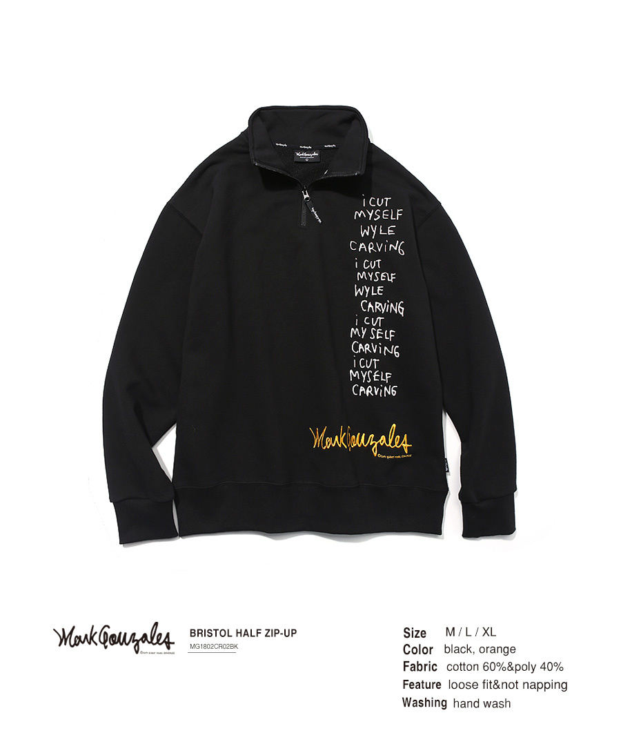 마크 곤잘레스(MARK GONZALES) BRISTOL HALF ZIP-UP