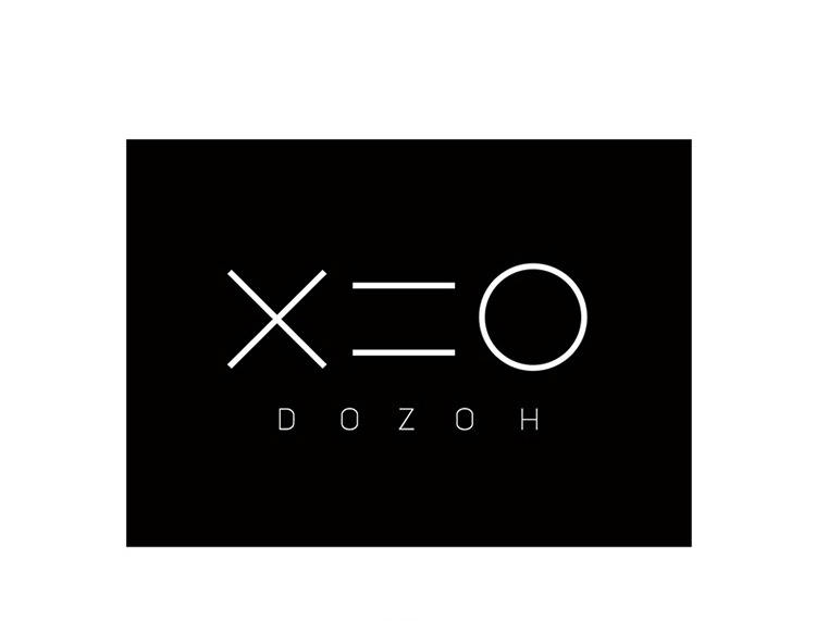 도조(DOZOH) BLACK DZH RED LOGO T-SHIRTS