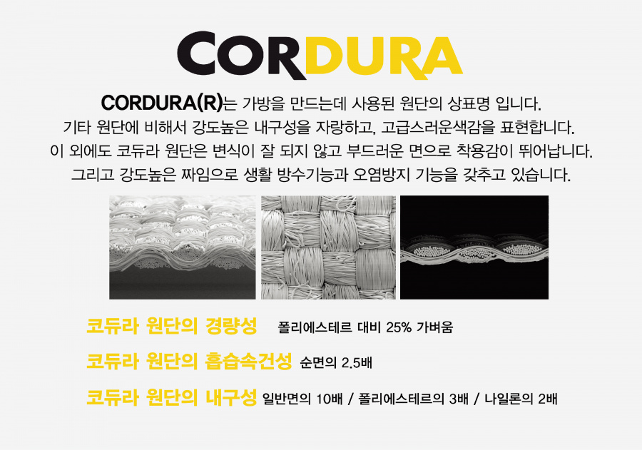 커버낫(COVERNAT) CORDURA SACOCHE BAG BLACK