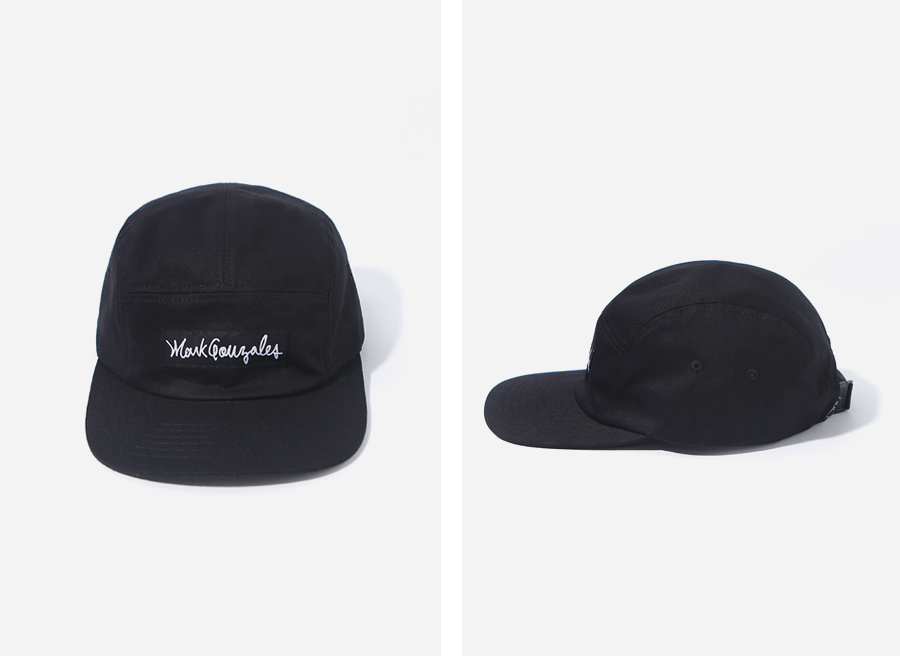 마크 곤잘레스(MARK GONZALES) M/G BOX CAMP CAP BLACK