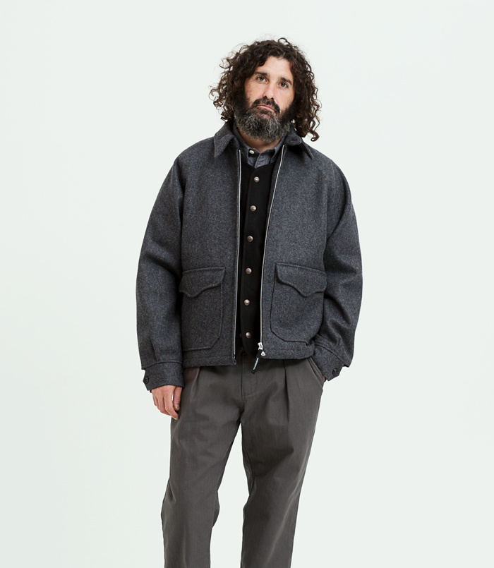 유니폼브릿지(UNIFORM BRIDGE) 18fw chambray shirts grey