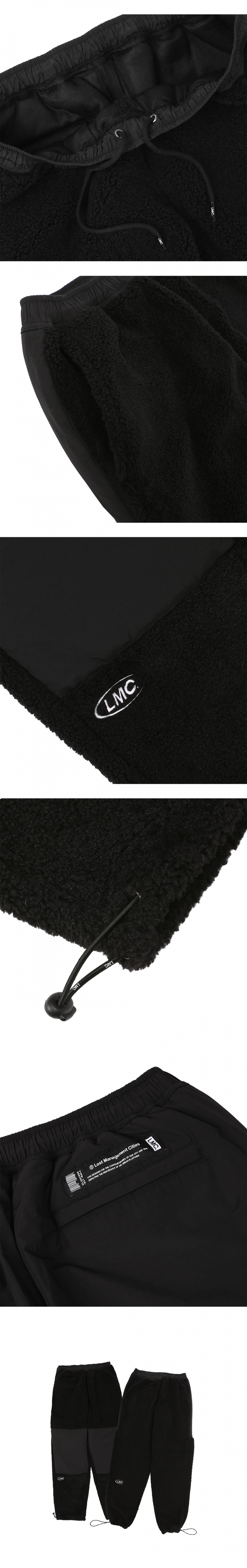 엘엠씨(LMC) LMC BOA FLEECE DOUBLE KNEE PANTS black