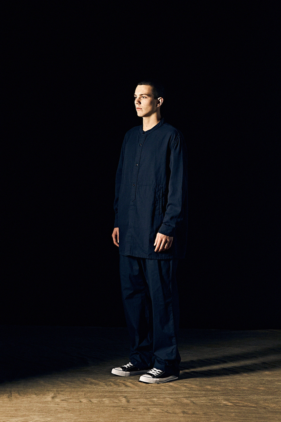 에스피오나지(ESPIONAGE) Covelo Tunic Shirts Navy