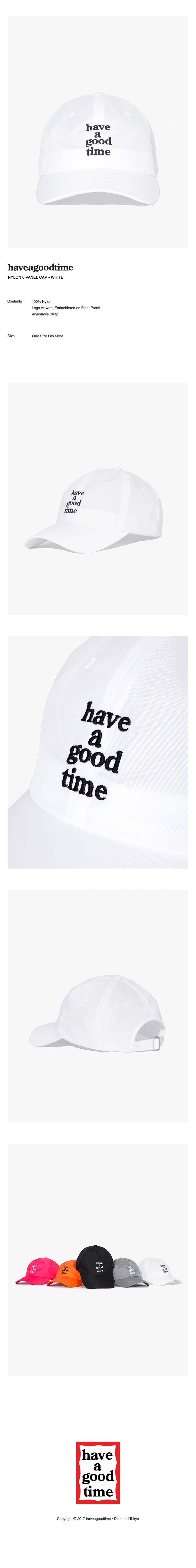 해브 어 굿 타임(HAVE A GOOD TIME) NYLON 6 PANEL CAP - WHITE