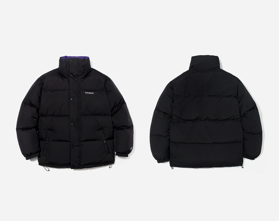 커버낫(COVERNAT) REVERSIBLE DUCK DOWN PUFFER PARKA PURPLE