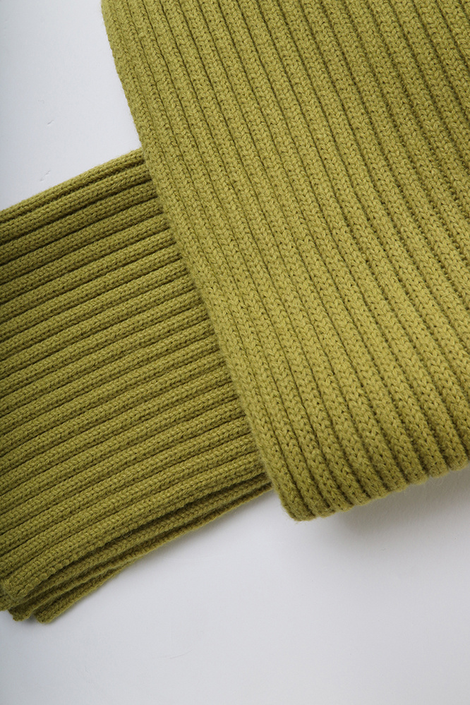 더 티셔츠 뮤지엄(THE T-SHIRT MUSEUM) 18aw ribbed wool muffler [avocado]