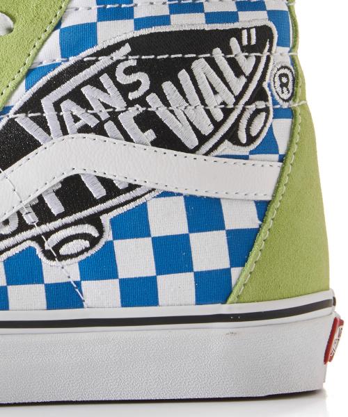 b42c0bc49b0 VANS SK8-Hi - Vans Patch sharp green true white   VN0A38GEUJY1 ...