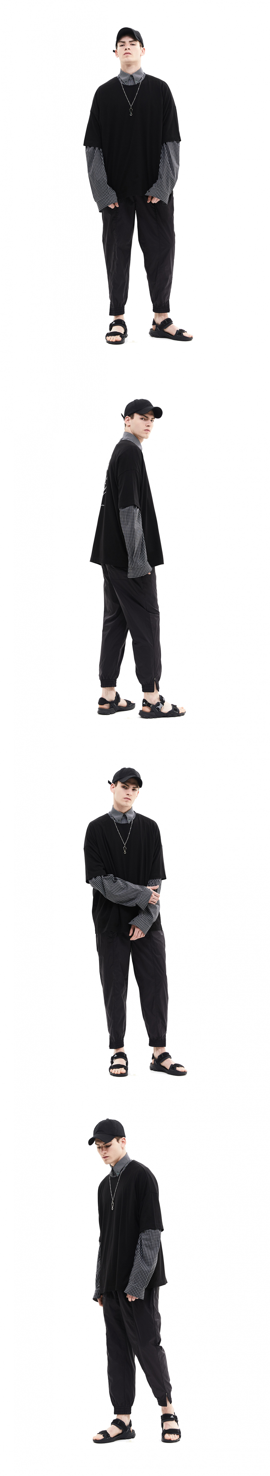 메종미네드(MAISON MINED) ZIP JOGGER PANTS BLACK