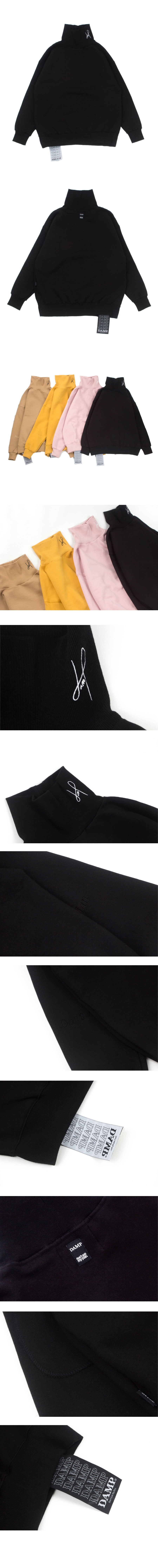 돈애스크마이플랜(DAMP) SIGNATURE LOGO TURTLENECK 2.0 BLACK