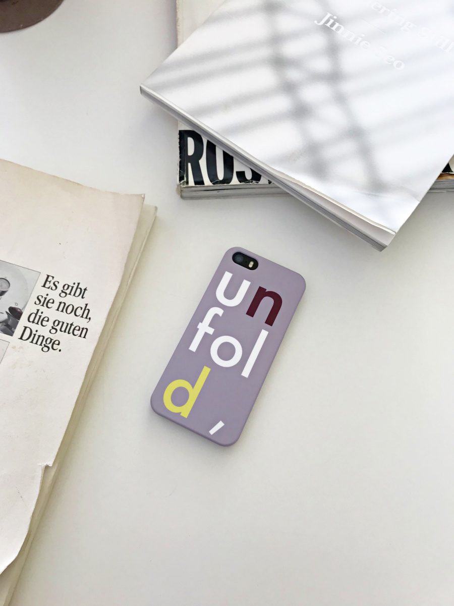 언폴드(UNFOLD) logo iphone case - lavender