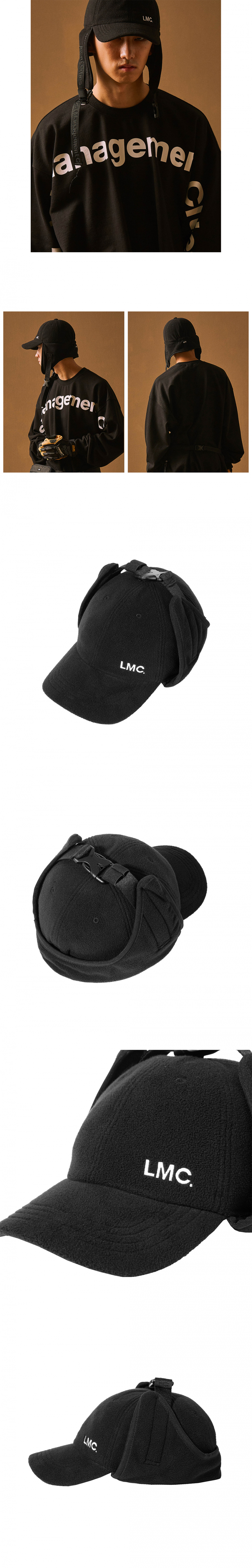 엘엠씨(LMC) LMC FLEECE EARFLAP CAP black