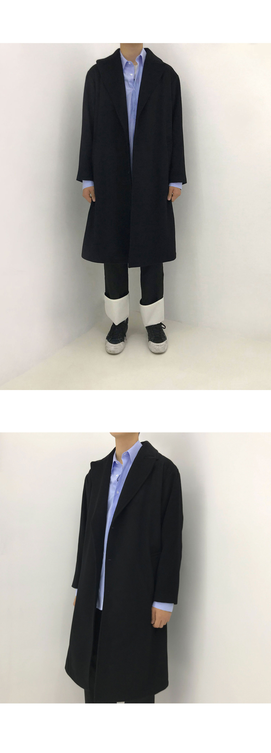 돈애스크마이플랜(DAMP) HIDDEN MESSAGE CASHMERE OVERSIZED COAT 2.0
