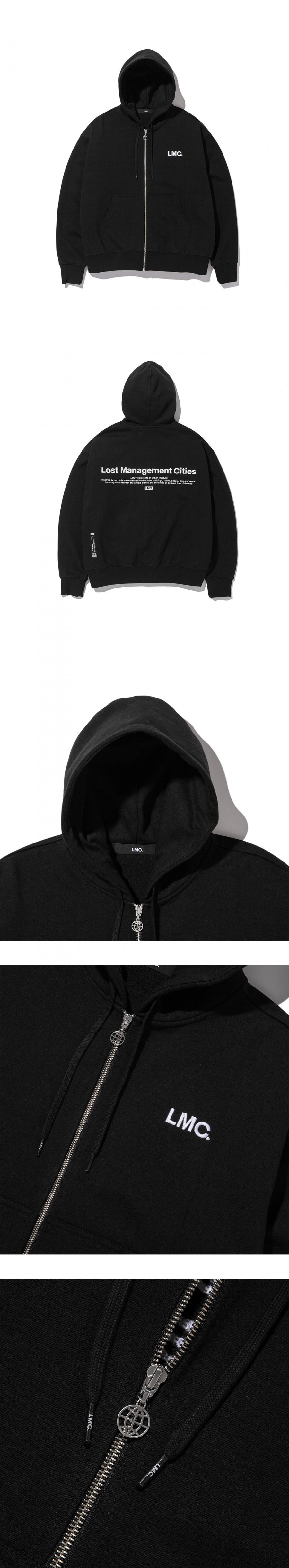 엘엠씨(LMC) LMC OG LOGO ZIP-UP HOODIE black