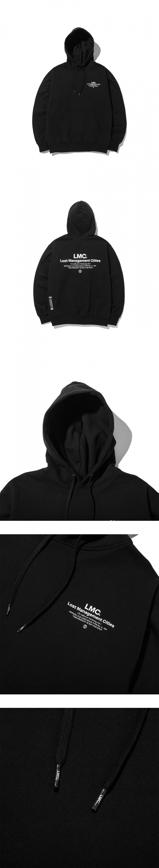 엘엠씨(LMC) LMC INFLUENCER HOODIE black