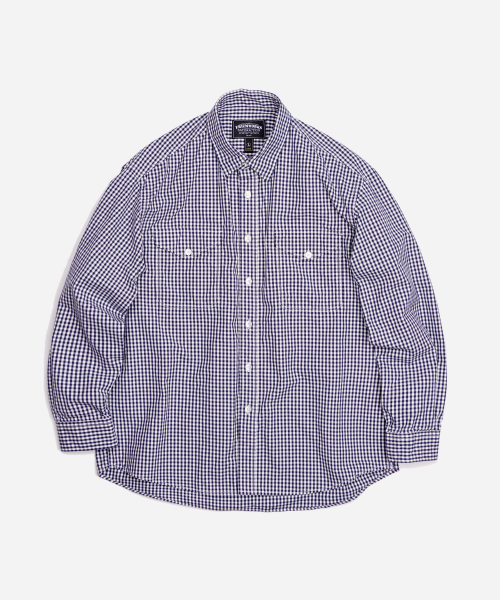 프리즘웍스(FRIZMWORKS) ESSEN GINGHAM CHECK SHIRT _ BLUE