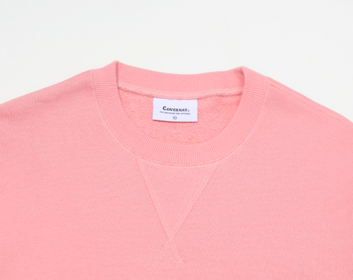 커버낫(COVERNAT) C LOGO CREWNECK CORAL RED