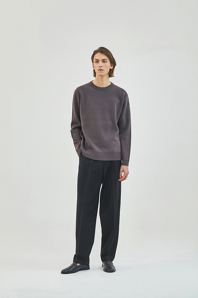 더 티셔츠 뮤지엄(THE T-SHIRT MUSEUM) 19ss essential wool knit [pale purple]