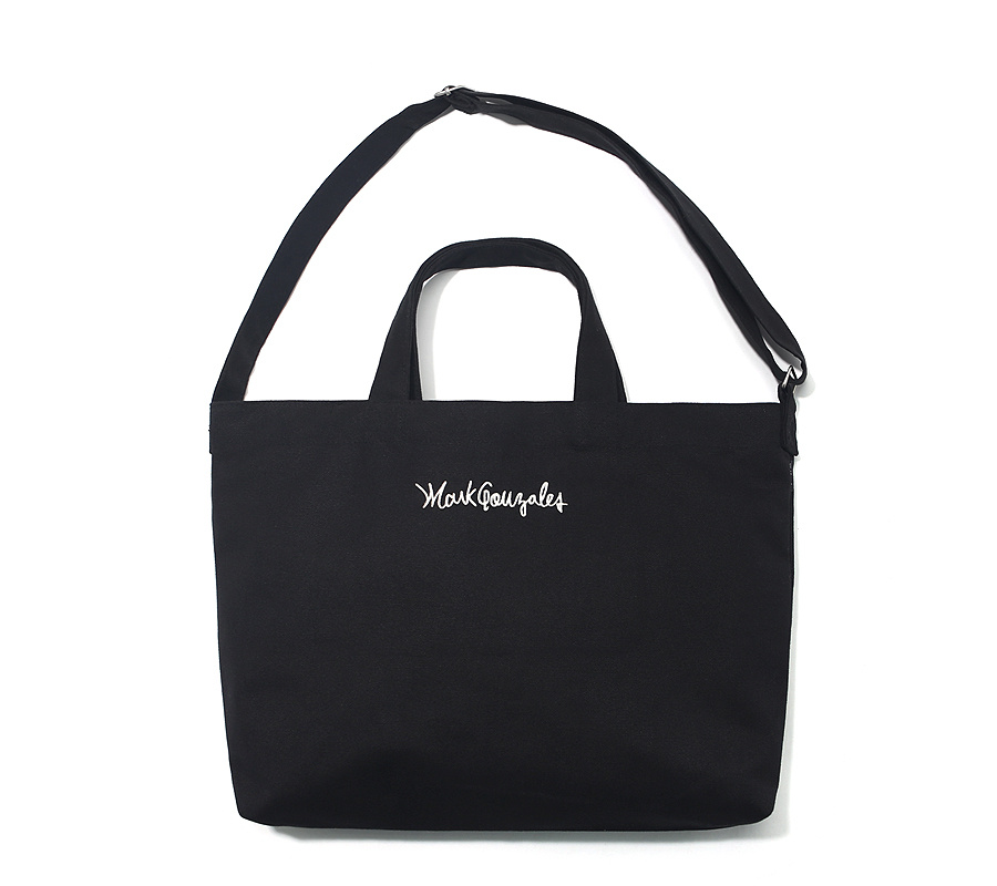 마크 곤잘레스(MARK GONZALES) M/G SIGN LOGO 2WAY BAG BLACK