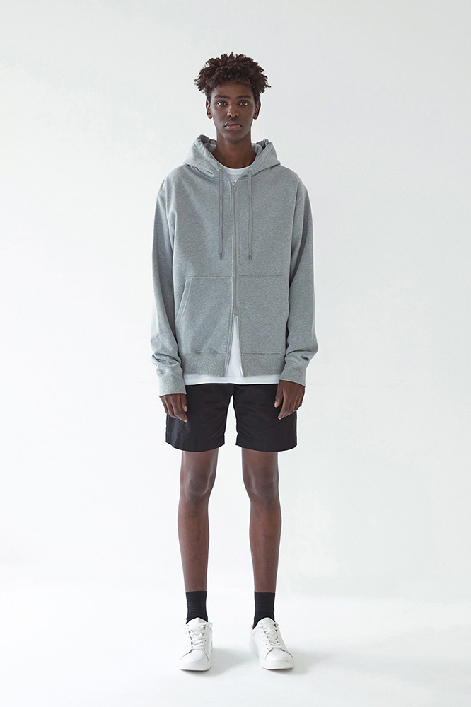 더 티셔츠 뮤지엄(THE T-SHIRT MUSEUM) 19ss semi-over fit zipup hoodie [gray]