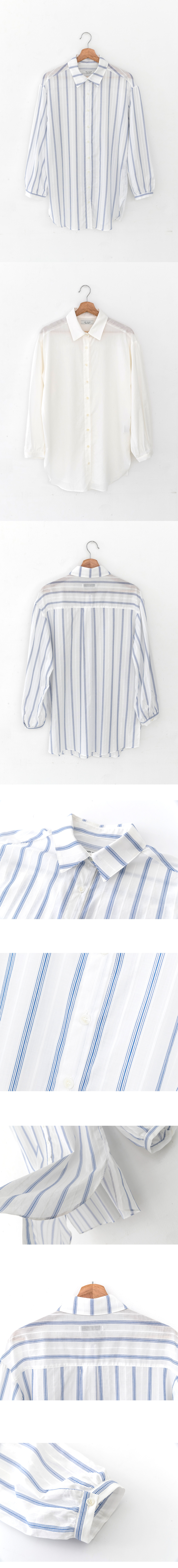 레이디 볼륨(LADY VOLUME) see-through blouse_stripe