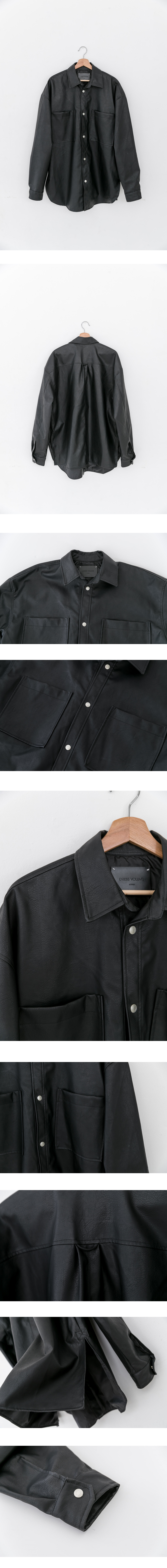 레이디 볼륨(LADY VOLUME) [남여공용]leather shirt jacket