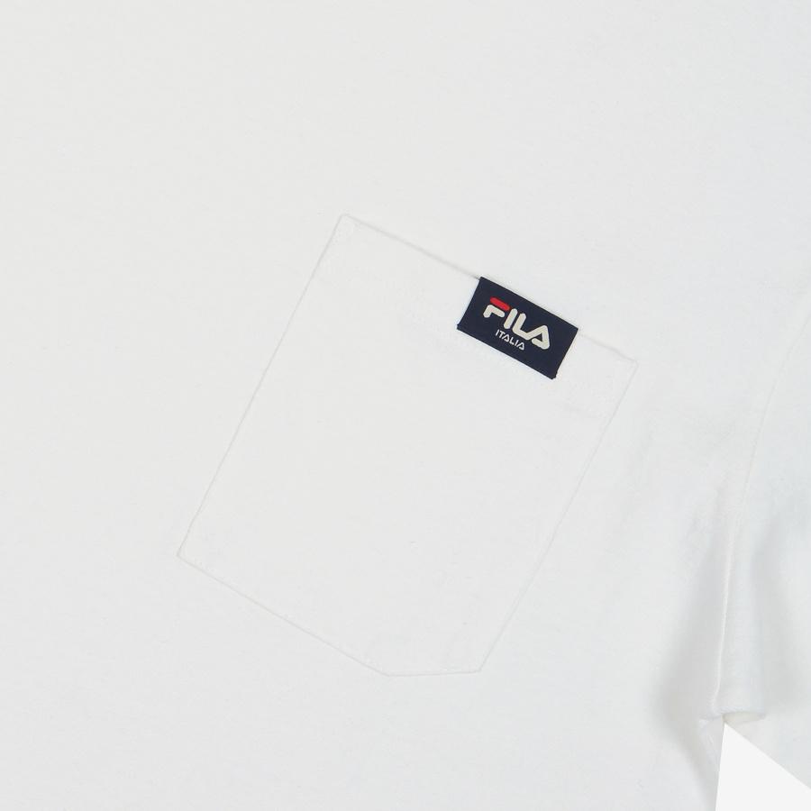 휠라(FILA) 스몰리니어 포켓 루즈핏 반팔티셔츠(FE2RSB5106XOWH)