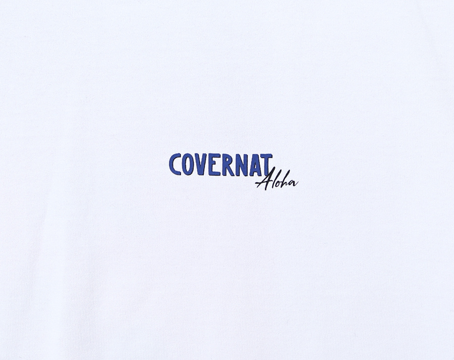 커버낫(COVERNAT) S/S ALOHA SUNSET TEE WHITE