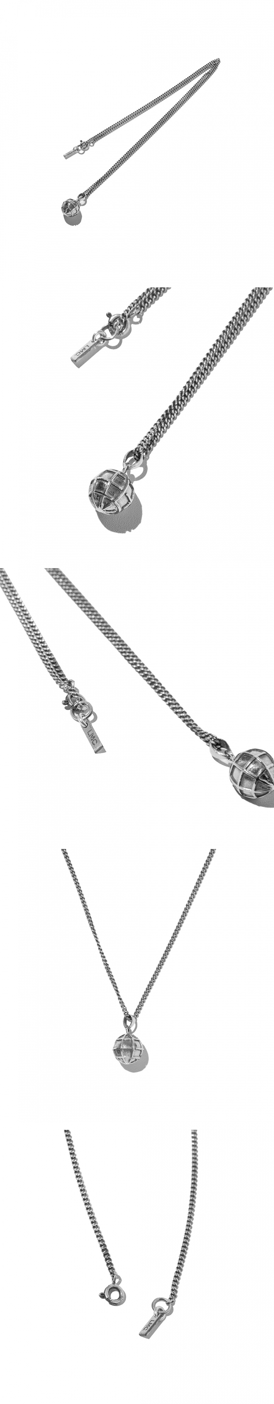 엘엠씨(LMC) LMC GLOBE SILVER NECKLACE