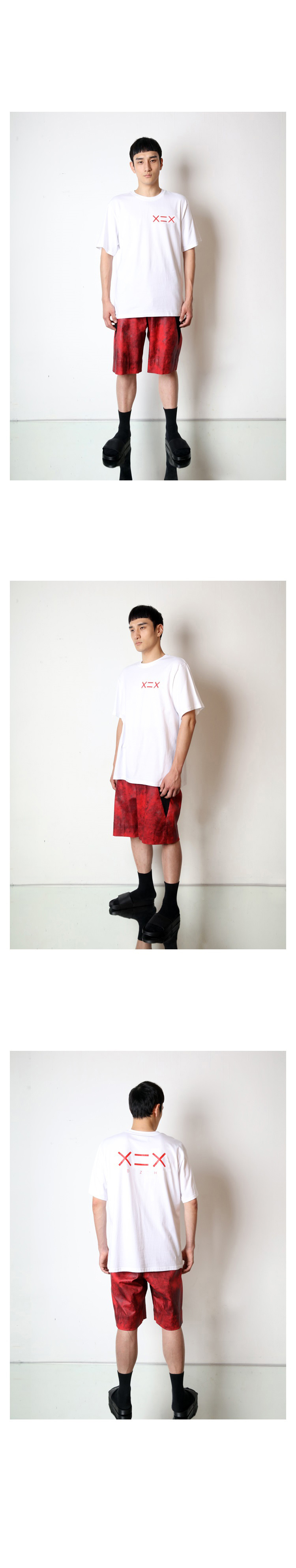 도조(DOZOH) WHITE DZH RED LOGO T-SHIRTS
