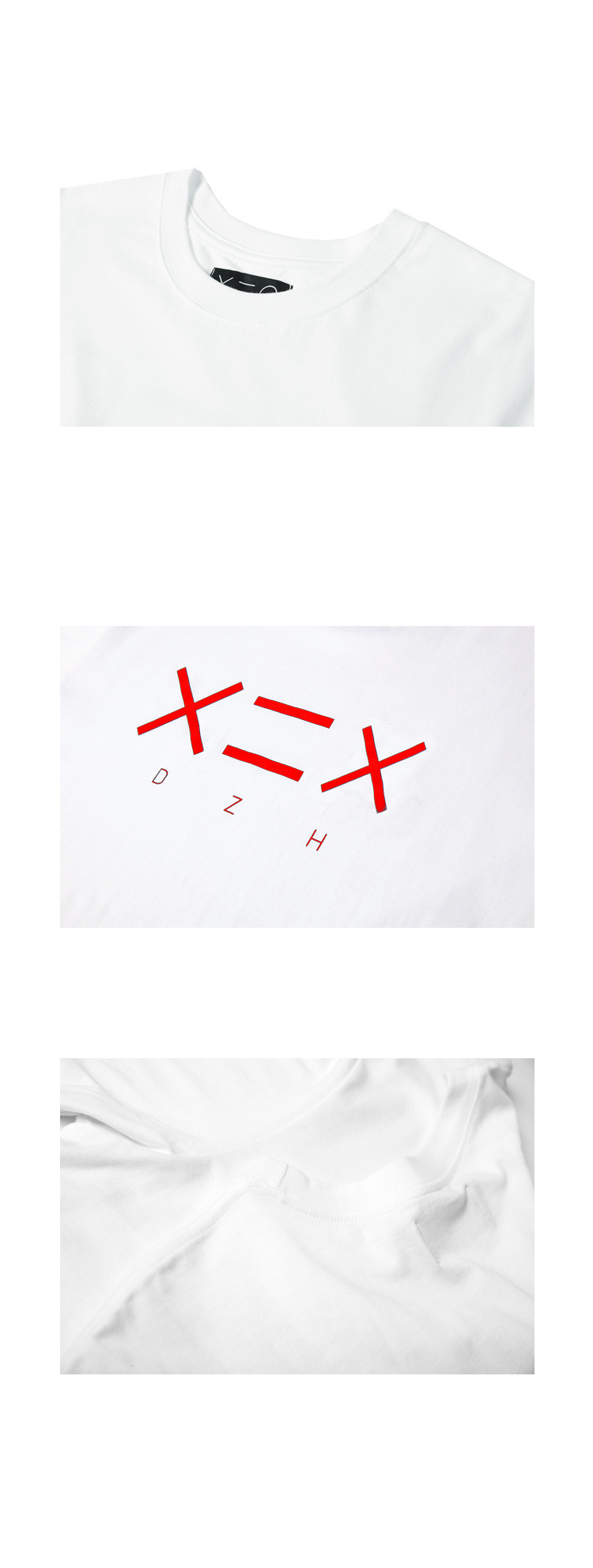 도조(DOZOH) WHITE DZH F/RED LOGO T-SHIRTS