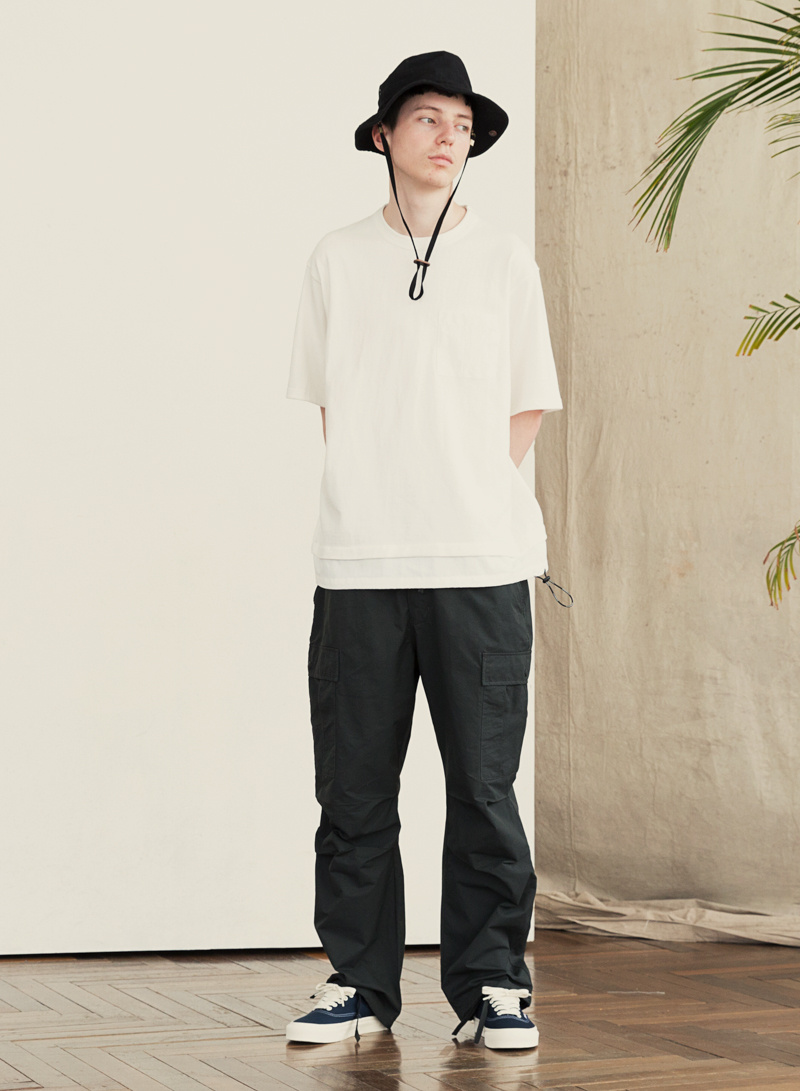 유니폼브릿지(UNIFORM BRIDGE) 19ss layer pocket s/s tee khaki
