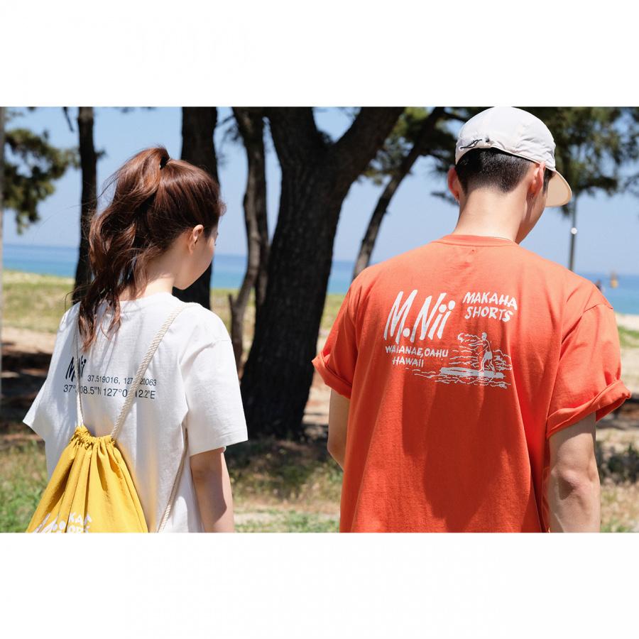 엠니(M.Nii) ALL AROUND Logo T-Shirt / Orange