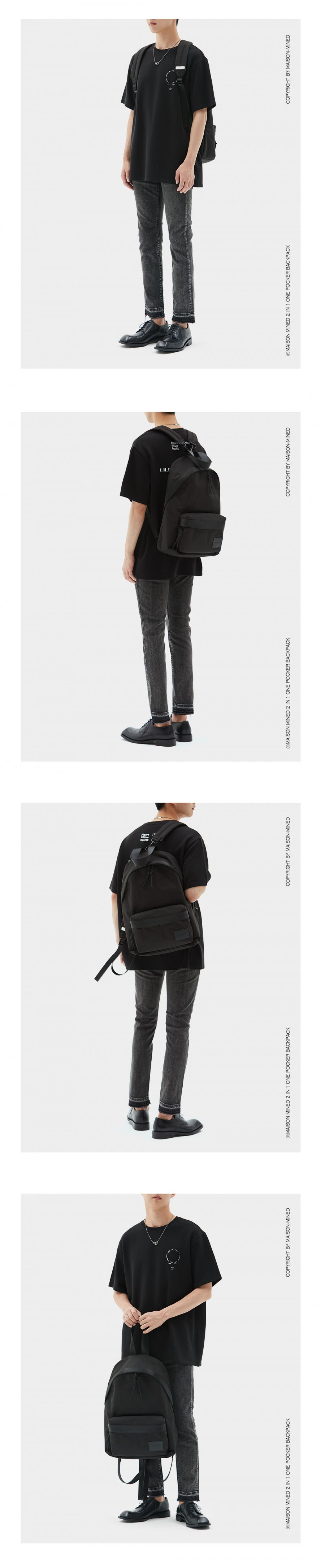 메종미네드(MAISON MINED) 2 IN 1 ONE POCKET BACKPACK