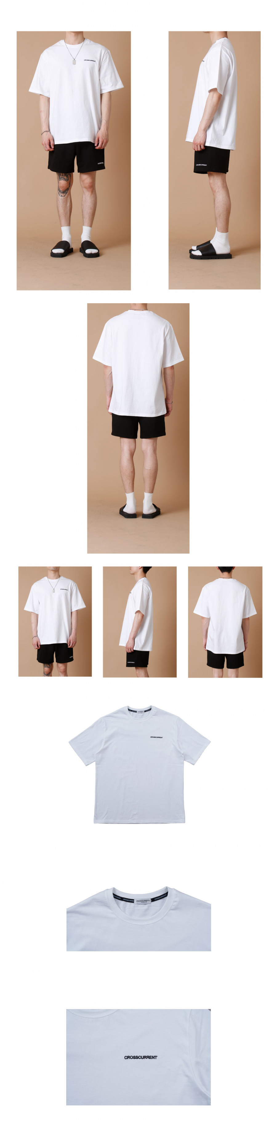크로스커렌트(CROSSCURRENT) CCT Small Logo Short Sleeve - WHITE