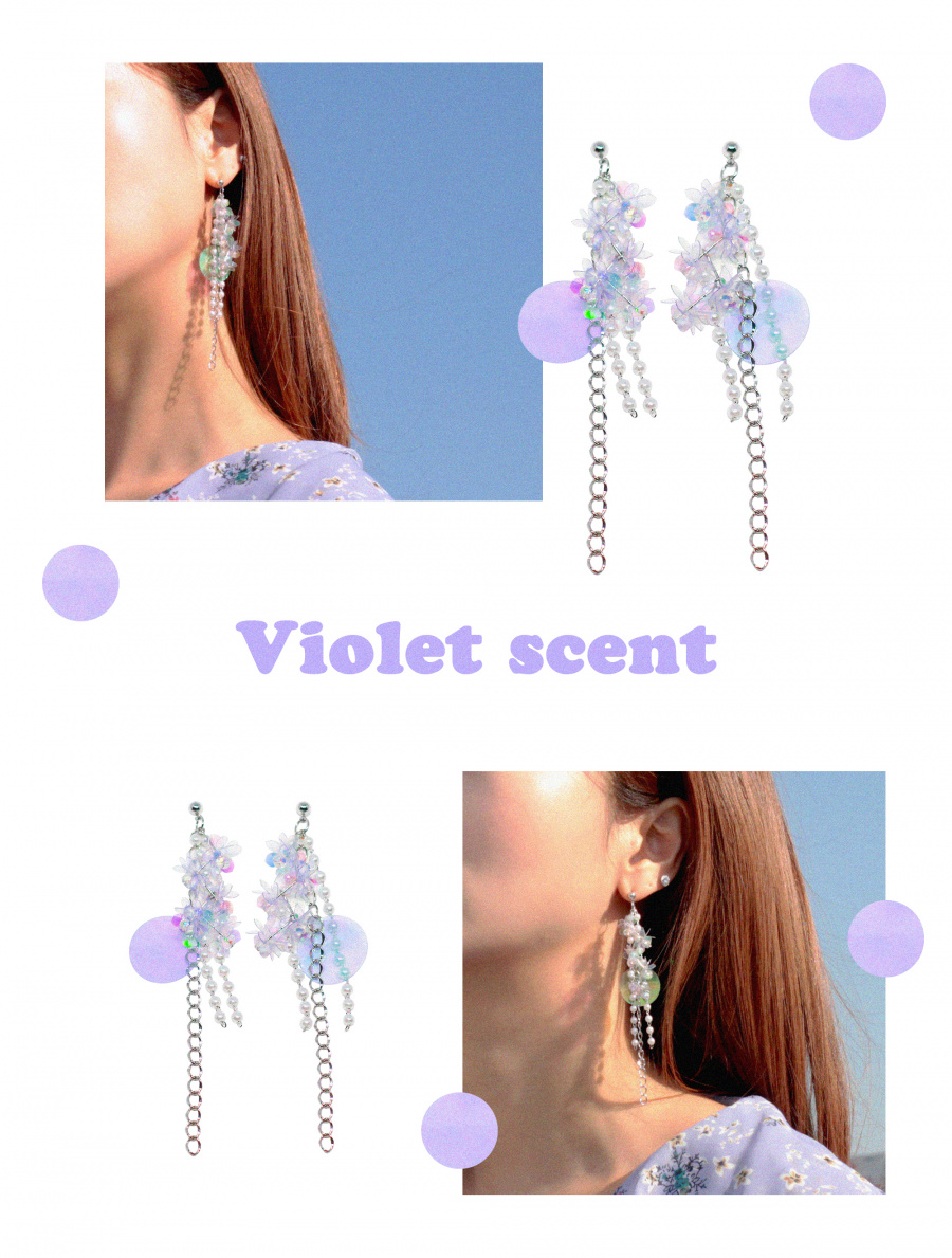 캡틴바나나(CAPTAINBANANA) VIOLET SCENT EARRINGS
