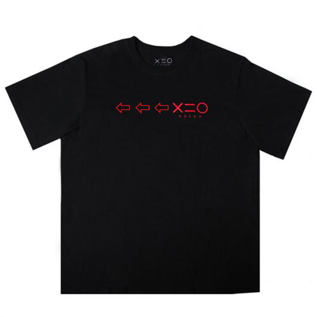 도조(DOZOH) BLACK DOZOH RED ARROW&LOGO T-SHIRTS