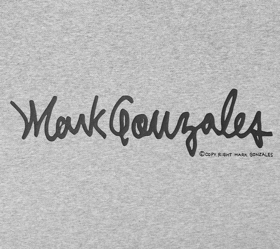 마크 곤잘레스(MARK GONZALES) M/G SMALL SIGN LOGO CREWNECK GRAY