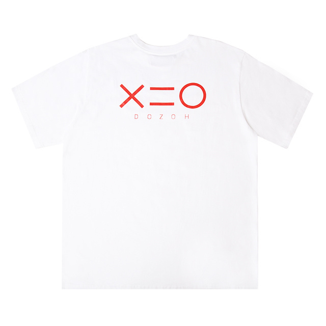 도조(DOZOH) WHITE DOZOH RED EQUAL V LINE&LOGO T-SHIRTS