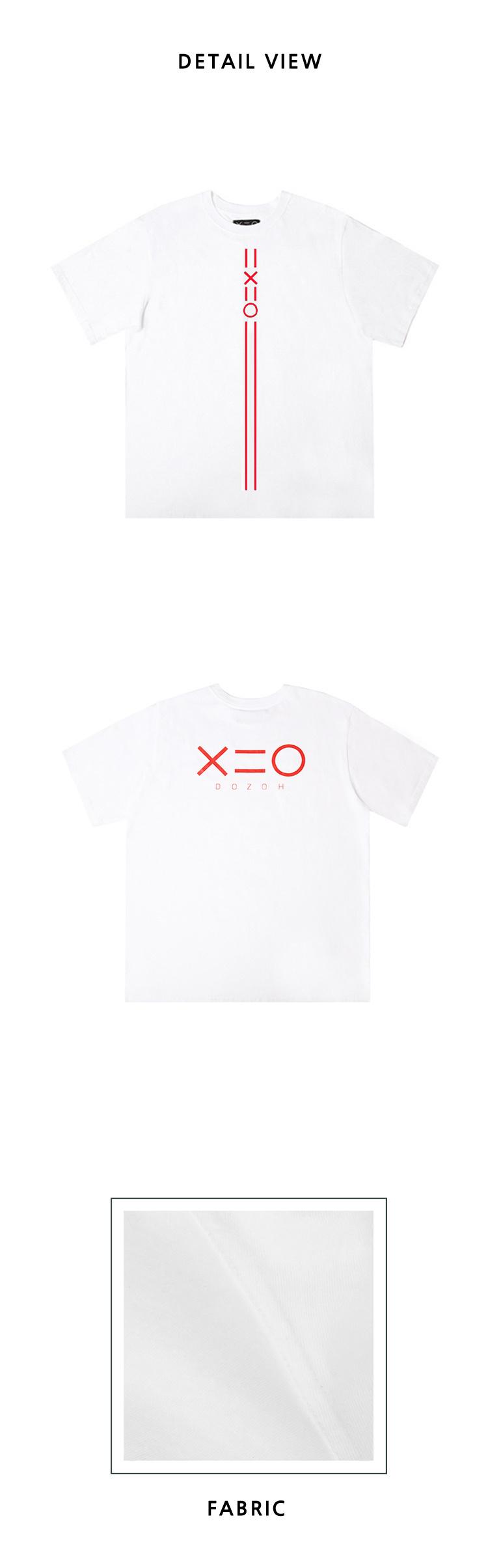 도조(DOZOH) WHITE DOZOH RED EQUAL V LINE&LOGO T-SHIRTS 2